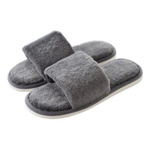 Fashion Mens Winter Warm & Cozy  Indoor Shoes Skidproof House Slipper, Gray