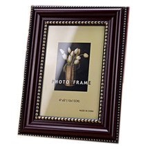 Set Of 2 Decorative Polyresin 4-by-6-Inch Picture Photo Frame, Dark Red