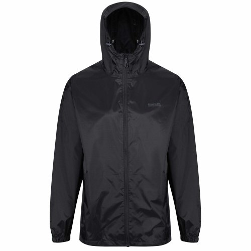 Regatta Men's Pack It III Waterproof Shell Jacket, Black, Large