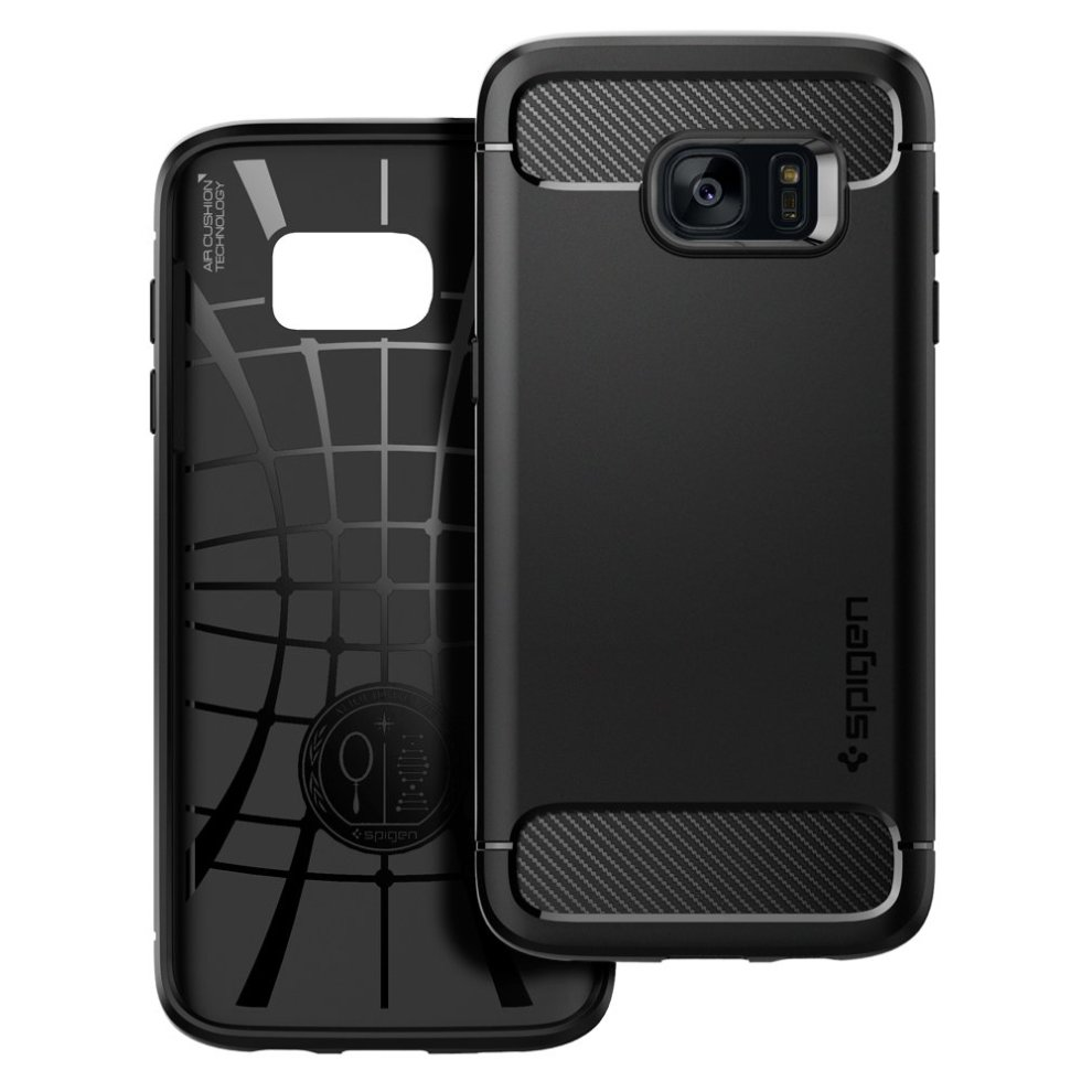 sports shoes ba053 0fb65 Galaxy S7 Edge Case, Spigen® [Rugged Armor] Resilient [Black] Ultimate  protection from drops and impacts for Samsung Galaxy S7 Edge (2016) -...