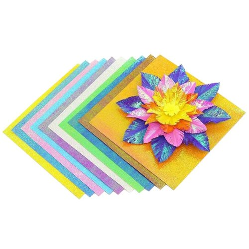 100 Sheets Colorful Square Origami Papers Craft Folding Papers #01