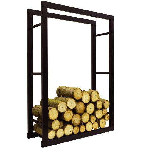 ONIDA - Metal 70cm Wide Fireside Log Storage Rack - Black