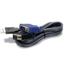 Trendnet 2.8m USB/VGA KVM 2.8m Black KVM cable