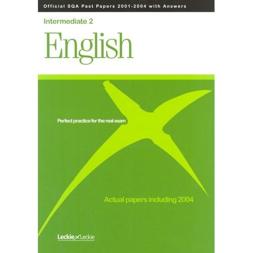 Official SQA Intermediate 2 English Past Papers 2001-2004