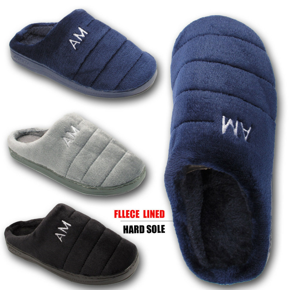 0cc9ad7b7926 Mens Puffer Slippers Fleece lined on OnBuy