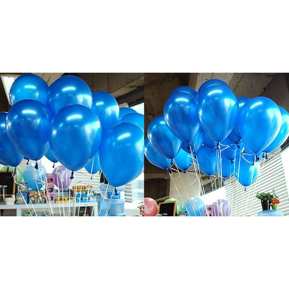 Blue and Dark Blue Balloons x30 White