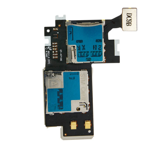 SIM & Micro-SD card reader replacement part for Samsung Galaxy Note 2