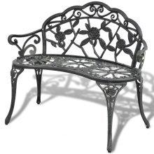 vidaXL Garden Bench Green Cast Aluminium