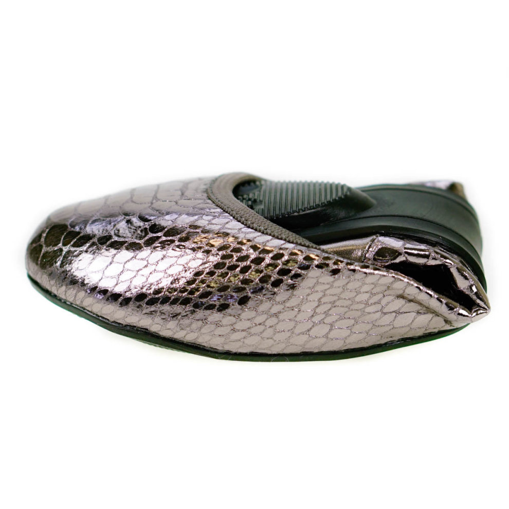 ead53c885 ... Butterfly Twists Foldable Ladies Flat Shoes Silver - 2 ...
