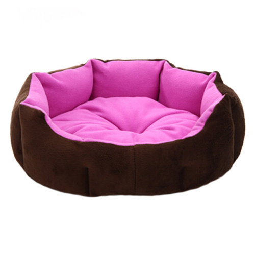 Stylish Pet Bed Pet House Detachable Doghouse Kennel for Small Pets Purple+Brown
