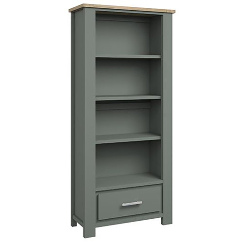 Bentley Designs Oakham Grey Painted & Oak Bookcase