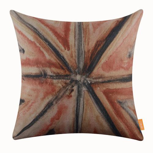 "18""x18"" Bohemian Pattern Burlap Pillow Cover Cushion Cover"