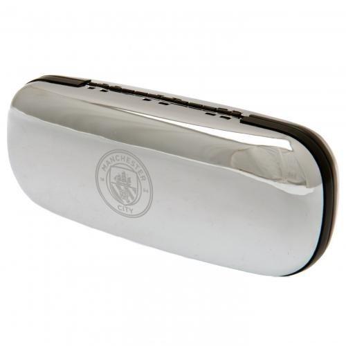Manchester City F.c. Chrome Glasses Case - Official Fc -  chrome glasses case manchester city official fc