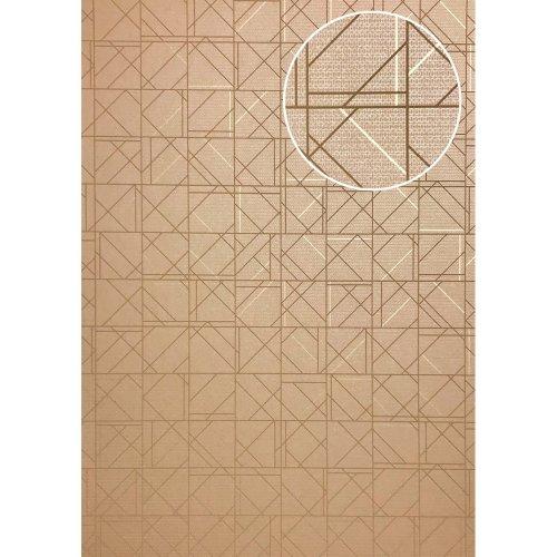 ATLAS XPL-591-3 Graphic wallpaper shiny beige light brown 5.33 sqm