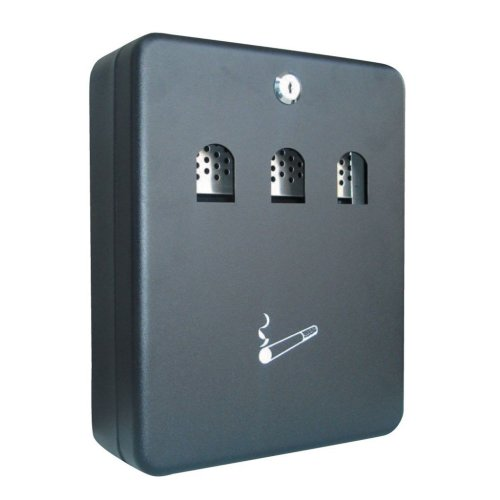 Q-Connect Black 2.7 Litre Cigarette Ash Bin Wall Mountable Lockable