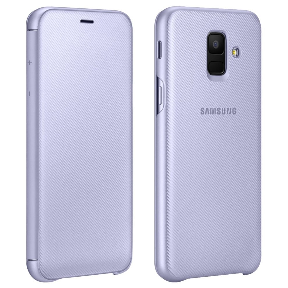 wholesale dealer 29e94 bf78a Official Samsung Flip Wallet Cover EF-WA600 case for Samsung Galaxy A6 -  Purple
