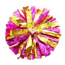 Team Sports Cheerleading Poms Match Pom Plastic Ring Rose+Golden  2PCS