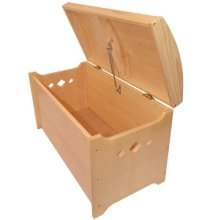 Obique Furniture Pirate Storage Box, Toy Chest Solid Pine Wood,Natural