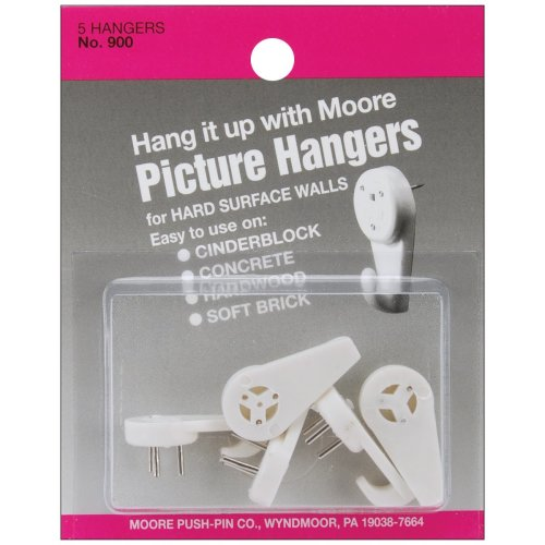 Picture Hangers 5/Pkg-Hard Surface Walls