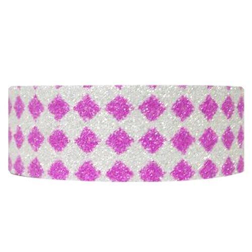 Wrapables Shimmer Washi Masking Tape Pink Diamonds