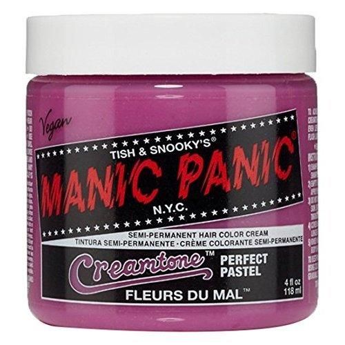 Manic Panic Semi-Permanent Hair Color Cream, Fleurs Du Mal, 4 Ounce