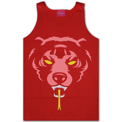 Mishka Oversized Adder Tank Top Red