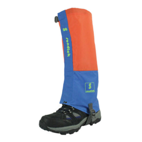 Set Of 2 Sports Shoe Gaiter Waterproof Binding Podotheca Boot Gaiter,Orange/Blue