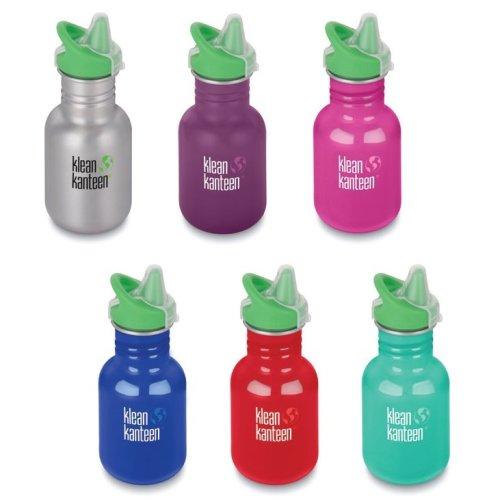 Klean Kanteen Kids drinks bottle stainless steel 355ml - Sippy Cap - new designs