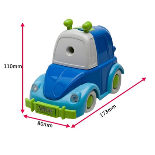 Cute Car Shape Manual Pencil Sharpener for Office and Classroom (Blue)