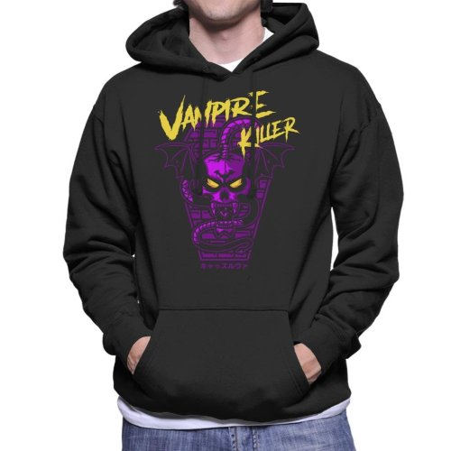 Vampire Killer Retro Castlevania Men's Hooded Sweatshirt