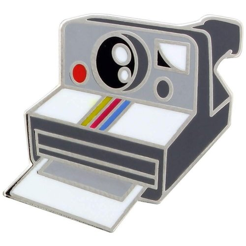 Grindstore Retro Camera Enamel Pin Badge