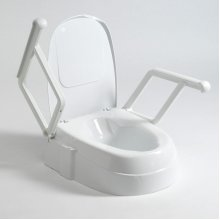 Drive Height Adjustable Toilet Seat with Lid and Arms