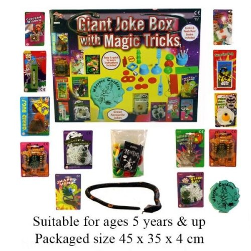 Giant Joke Box With Magic Tricks Full Set Of Magic Tricks With Instructions Included