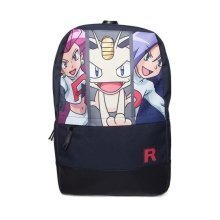 POKEMON Team Rocket Backpack With  Front Pocket Dark Blue/Black (BP290214POK)