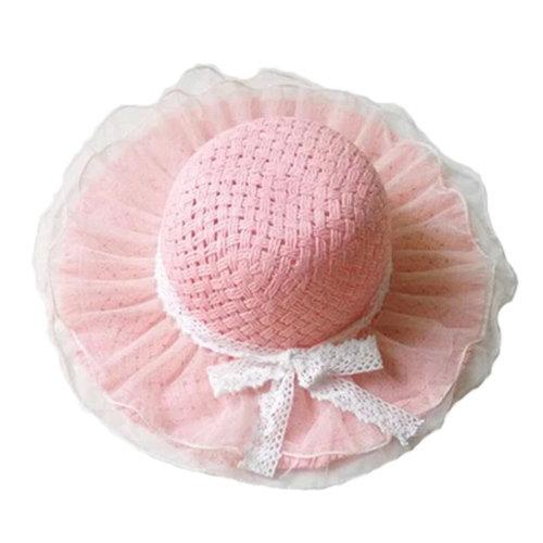 a9705300 Children Princess Lace Bowknot Beach Hat Sun Hat Girls Hat,PINK on OnBuy