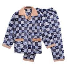 Men Pajamas Warm Thick Cotton Winter Suit Modern Set Sleepwear/Nightwear Clothes for Home, C6
