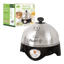Nutri-Q by Quest Healthy Eating Stainless Steel Egg Boiler with Poaching Tray