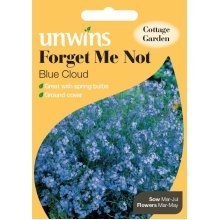 Unwins Pictorial Packet - Forget Me Not Blue Cloud - 450 Seeds