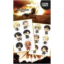 Attack on Titan Chibi Characters Tattoo Pack