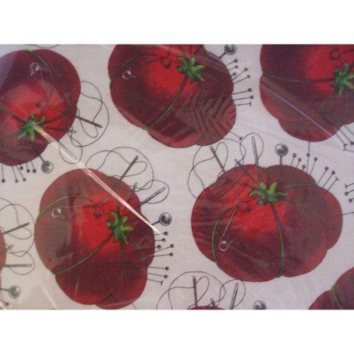 HobbyGift Medium Sewing Box / Basket With Pincushion & Removable Tray - Tomato Pincushion