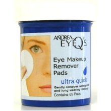 Andrea Eye Qs 65s Ultra Quick Eye Makeup Remover Pads (Case of 6)
