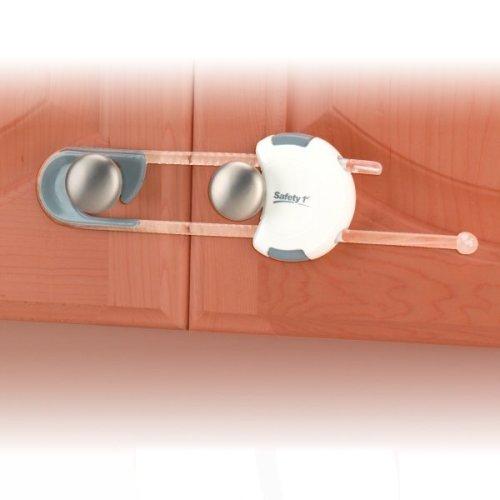 Cabinet Slide Lock White