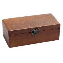 Retro Wooden Jewelry Storage Box Safe Seal/Bracelet Box-Rectangle