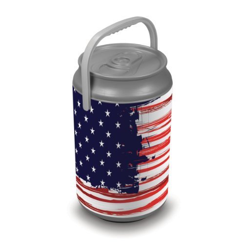 Picnic Time Stars And Stripes Insulated Can Cooler