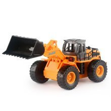 deAO RC Front Loader Dumper Truck Excavator with LED Lights and Sounds Radio Controlled Construction Truck Include Rechargeable Battery and Charger