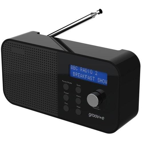 Groov-e GVDR04BK Venice Portable DAB/FM Digital Radio - Black