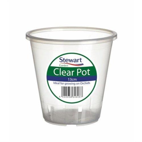 Stewarts Garden Clear Plant Pots - 13cm (2643008)