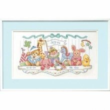 D03729 - Dimensions Counted X Stitch - Birth Record: Toy Shelf
