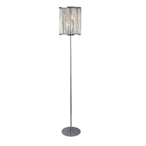 Searchlight Elise 2 Light Floor Lamp Chrome Crystal Drops