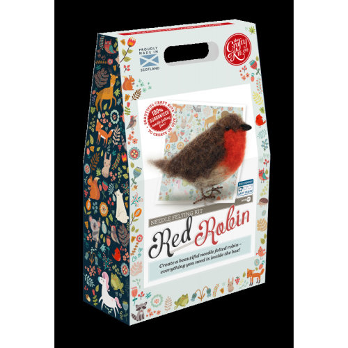 Red Robin Felting Kit - Includes everything you need- By The Crafty Kit co.